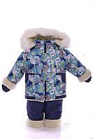Детский зимний комбинезон ноль с курткой сплошной мех до 1,5 года, фото 1