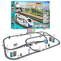 Детская железная дорога. Работает на батарейках. Размер в собранном виде: 98.5х170 см. 2181