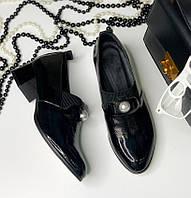 Женские туфли на каблуке, натуральная лаковая кожа 36-42р
