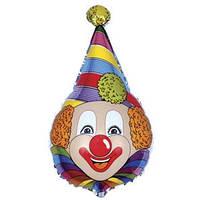 Фольгированный шар Клоун в колпачке 72см х 45см Разноцветный