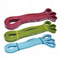 Эспандер-петля (резина для фитнеса и спорта) SportVida Power Band 3 шт 0-17 кг SV-HK0190-1