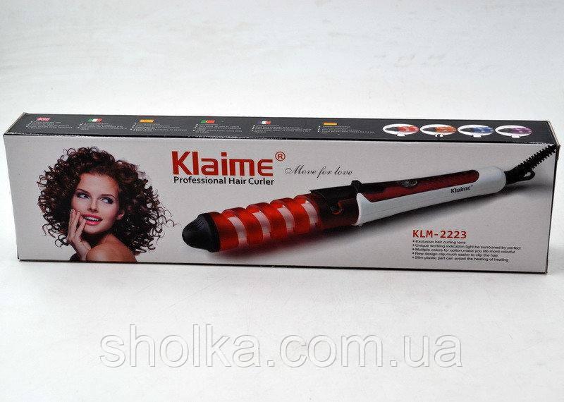 РАСПРОДАЖА!!! Плойка спиральная для волос KLAIME KLM-2223