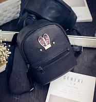 Рюкзак женский молодежный  с ушками  (черный)