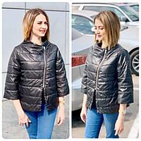 Куртка - жилетка - ветровка с рукавом 3/4, арт М524, цвет чёрный