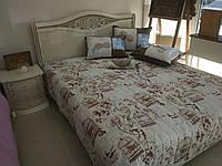 Ліжко (кровать) з різьбою з масиву дерева(ясен)