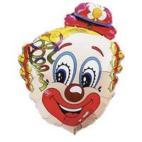 Фольгированный шар  Голова клоуна Цветок 75см х 56см Разноцветный