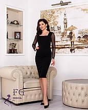 Классическое деловое платье до колен по фигуре красное, фото 3