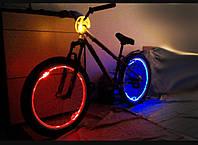 Подсветка  велосипеда светящимся шнурками 4-го покл.