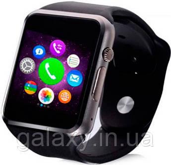 A1 Умные Часы телефон наручные под cим карту черные без Bluetooth