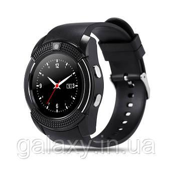 Умные часы с Bluetooth, поддержкой sim-карты Smart Watch V8 черные