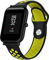 Ремешок UWatch Ремешок UWatch Silicone Double color strap for Amazfit Bip Black/Yellow F_84728