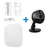 Комплект сигнализации Ajax StarterKit белый с IP камерой Foscam C1