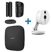 Комплект сигнализации Ajax StarterKit черный с IP камерой Foscam C2