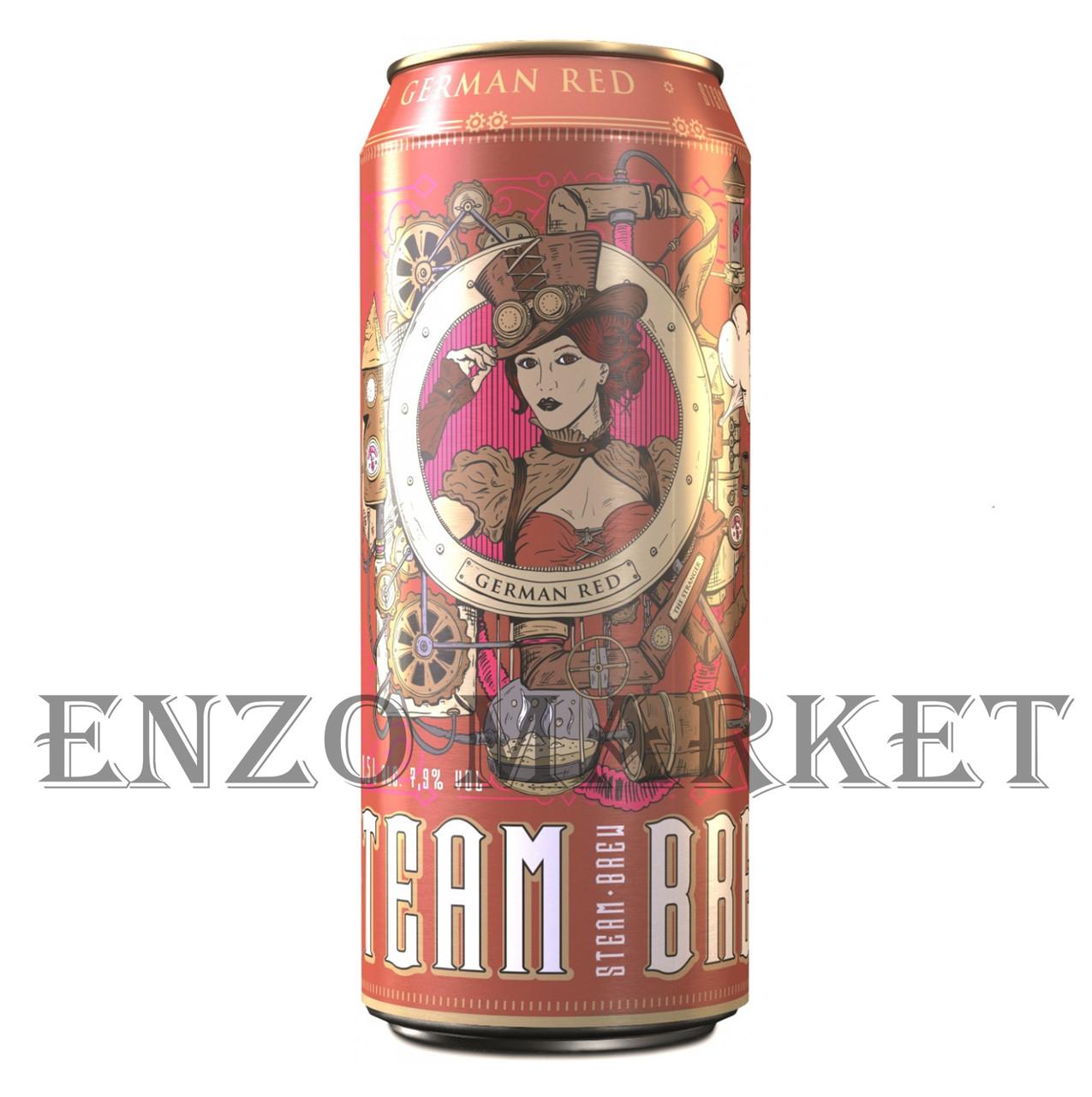 Пиво Steam Brew German Red Stout, 0,5 литра ж/б