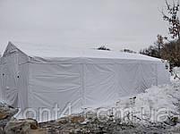 Шатер 8х16 метров ПВХ 580г/м2 с мощным каркасом под склад, гараж, палатка, ангар, намет павильон садовый серый, фото 2