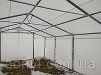 Шатер 8х16 метров ПВХ 580г/м2 с мощным каркасом под склад, гараж, палатка, ангар, намет павильон садовый серый, фото 3