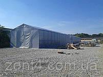 Шатер 8х16 метров ПВХ 580г/м2 с мощным каркасом под склад, гараж, палатка, ангар, намет павильон садовый серый, фото 6
