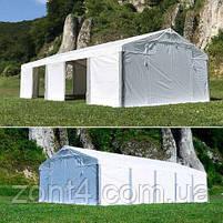 Шатер 8х16 метров ПВХ 580г/м2 с мощным каркасом под склад, гараж, палатка, ангар, намет павильон садовый серый, фото 8