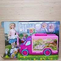 Машина барби с набором посуды Две куклы. Машинка. Kaibibi BLD148