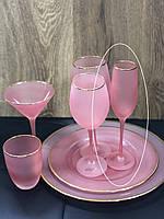 """Набор бокалов 4 шт  для шампанского """"Персия"""", 250 мл, 9BGA001A-P"""