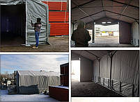 Шатер 6х16 метров ПВХ 600г/м2 с мощным каркасом под склад, гараж, палатка, ангар, намет, павильон садовый, фото 5