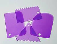 Набор кондитерских шпателей скребков для мастики 4 шт