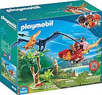 Игровой набор ПлейМобил с птеродактилем  PLAYMOBIL® Adventure Copter with Pterodactyl Building Set