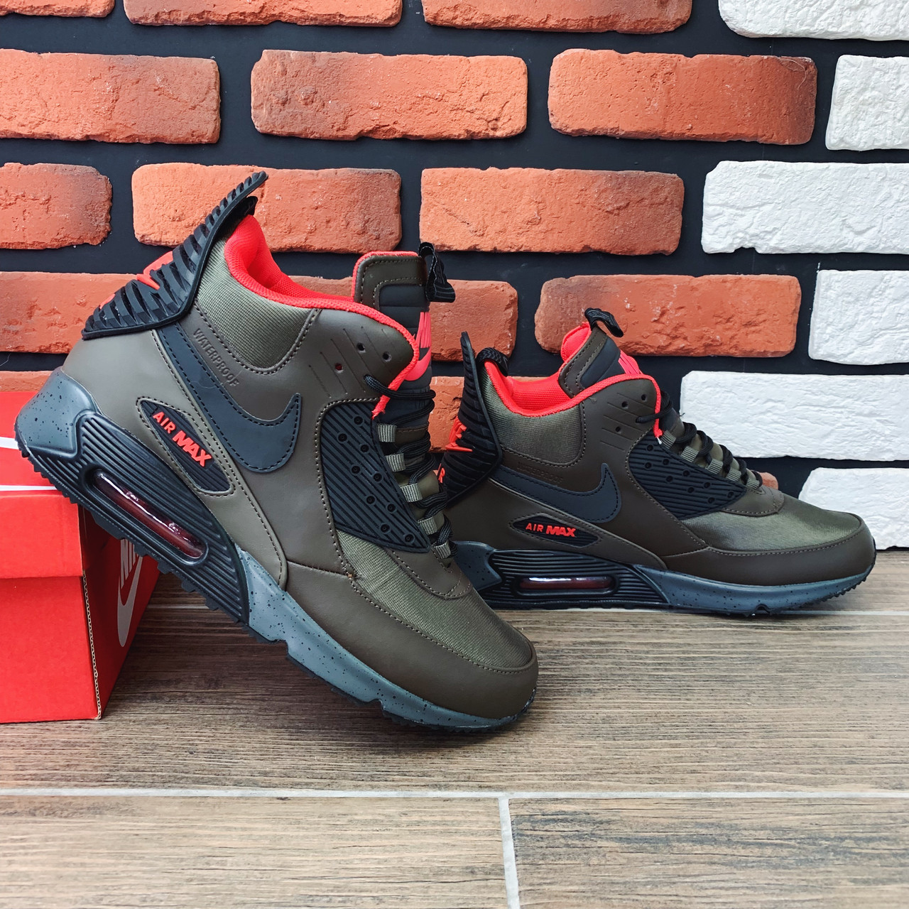 Термо-кроссовки мужские Nike Air Max (реплика) 1182 ⏩ [ 41.44 ]