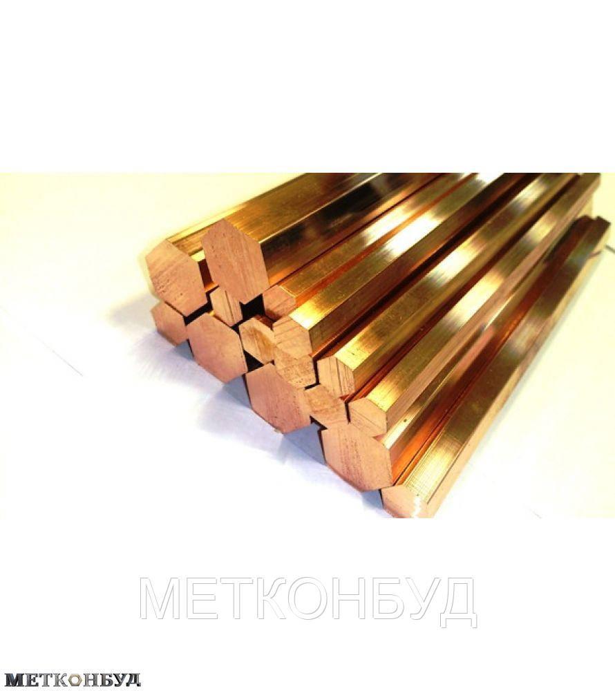 Шестигранник латунный ЛС59-1 32 мм