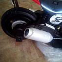 Электромобиль мотоцикл детский красный колеса надувные от 3-х до 8-ми мотор 2*15W аккумулятор 6V7AH, фото 5