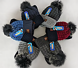 М 5075 Комплект для хлопчика:шапка та манішка, акрил, фліс, фото 4
