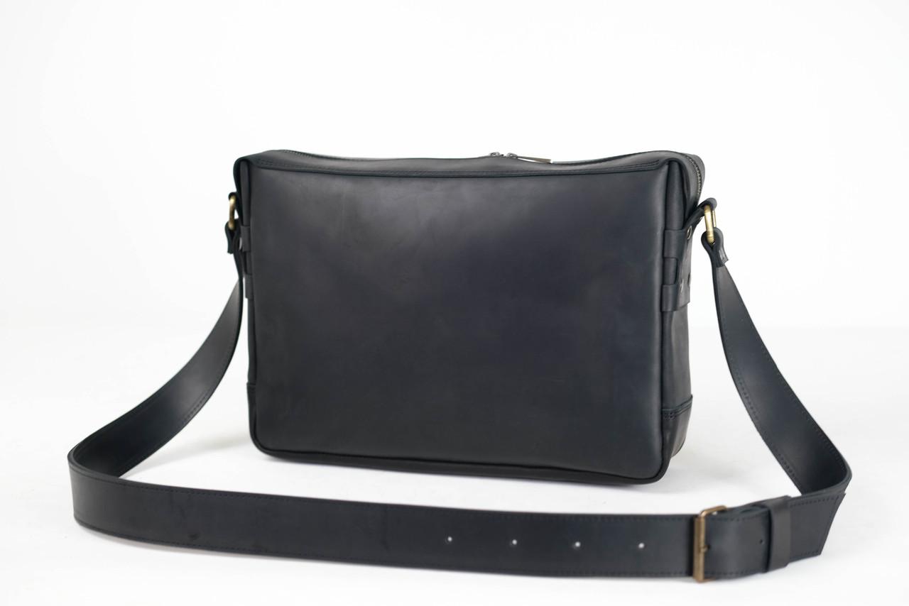 """Мужская сумка """" Модель №51 """" Винтажная кожа цвет Черный"""