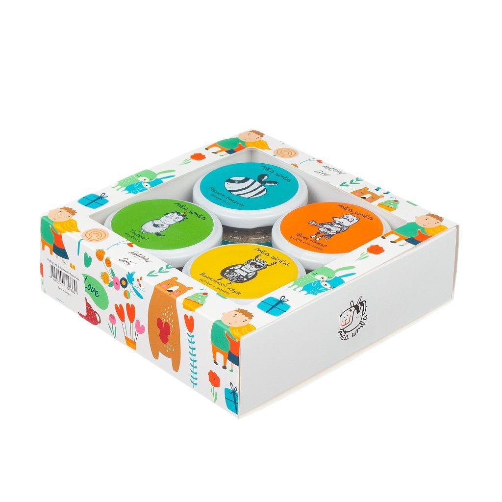 Подарочные наборы с медом Мед-шмед с 4-х банок 150г