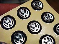 Логотип для авто ключа ФОЛЬКСВАГЕН (VOLKSWAGEN) 10мм черный силикон.