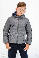 Куртка детская демисезонная теплая с капюшоном 122-146 см цвета