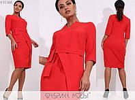 Платье женское полу приталенное - Красный, фото 1
