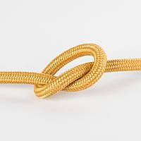 Провод в тканевой оплетке золотой