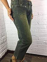 Бриджи женские джинсовые 3118 темно-зеленые 28