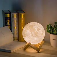 Ночник в виде Луны 3D Moon Light сенсорный  диаметр 15 см, фото 1