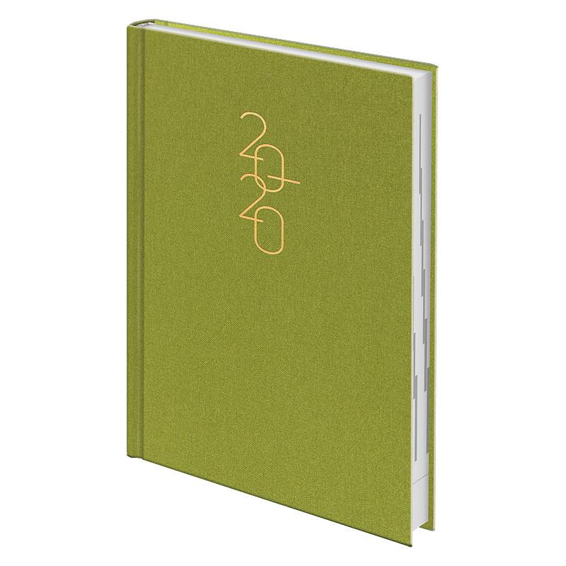 Ежедневник датированный Brunnen 2020 Стандарт Glam светло-зелёный