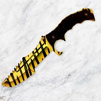 "Охотничий деревянный нож ""Хантсман-1"" Тигр из игры Counter-Strike"