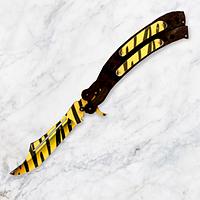 "Нож-бабочка складной деревянный ""Балисонг"" Тигр из игры Counter-Strike"