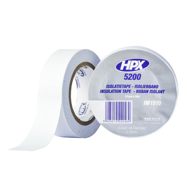 Профессиональная изоляционная лента HPX 5200 - 19мм  x 10м  - белая