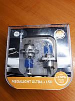 Автомобильные лампы H4 General Elektrik  Megalight Ultra +150  2шт.
