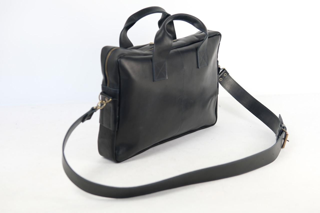 """Мужская сумка """"Модель №54"""" Винтажная кожа цвет Черный"""