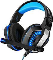 Наушники Kotion Геймерские наушники  Kotion Each G2000 Generation II с поворотным микрофоном (Черно-синий) SKU_558