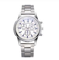 Часы кварцевые GAIETY  мужские наручные в стальном цвете с металлическим браслетом