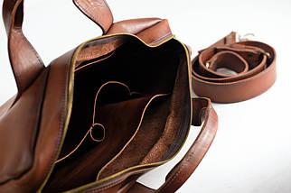 """Мужская сумка """"Модель №54"""" Кожа Итальянский краст цвет Коричневый, фото 3"""