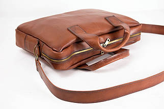 """Чоловіча сумка """"Модель №54"""" Шкіра Італійський краст колір Коричневий, фото 3"""