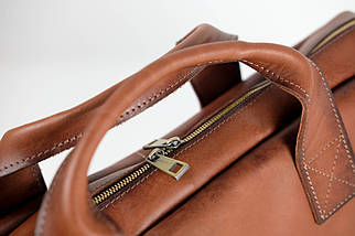 """Мужская сумка """"Модель №54"""" Кожа Итальянский краст цвет Коричневый, фото 2"""